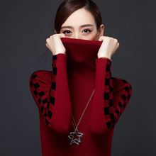 2015 New Women Turtleneck Sweater Autumn Winter Fashion Slim Long Sleeve Casual Warm Pullovers Knitted Jumper Pull Femme