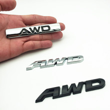 3D Metal Logo Car Sticker Emblem Auto Badge Decal For AWD BMW Audi Ford VW Nissan Toyota 4X4 4WD All Wheel Drive SUV dsycar 1 pair 3d metal turbo car sticker emblem badge for jeep bmw ford volvo nissan mazda audi vw honda toyota lada chevrolet