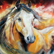 Handpainted Modern Wall Art Abstract Pictures Handsome Horse on Canvas Westland Giftware Oil Paintings for Wall and Home Decor