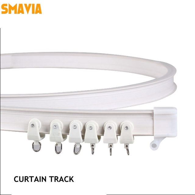 High quality curtains curved track straight curved curtain rod ...