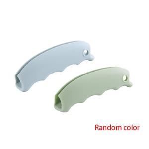 Image 5 - 2 uds. Bolsa de compras de silicona soporte de elevación mango fácil de llevar herramienta antideslizante ranuras portador de superficie