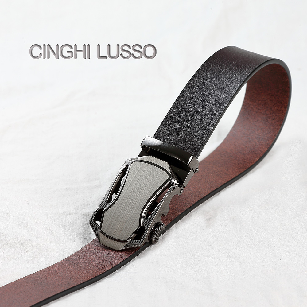 CINGHI LUSSO Self designed Men 39 s Belt Eather Belt Designer Belts Men Luxury Strap Male Luxury Leather Automatic Buckle Belt in Men 39 s Belts from Apparel Accessories