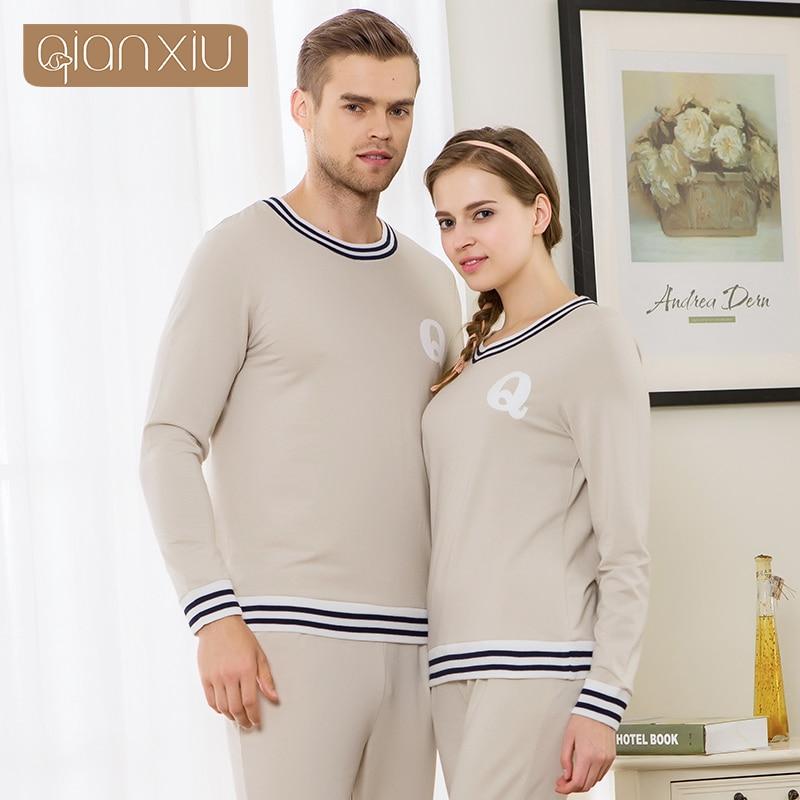 Qianxiu Casual Sleepwear Suit Men Autumn Plus size Pyjamas men Elastic  Waist Pants Brand Home clothing-in Pajama Sets from Men s Clothing    Accessories e99c327ba