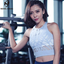Women Hollow Out Yoga Tops Sexy Breathable Mesh Fitness T-Shirts Quick Dry Clothes Running Workout Sliming Yoga Wear