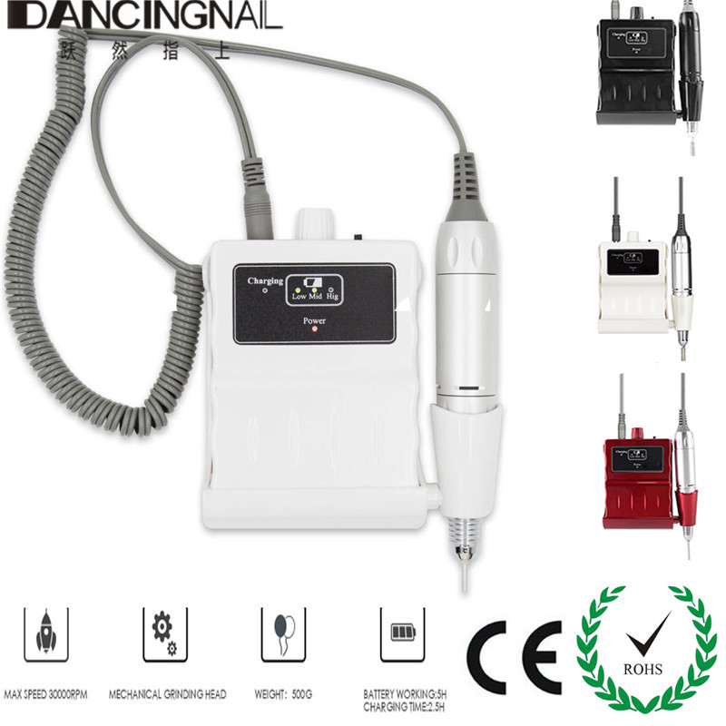 30000 RMP Nail Drill Machine Portable Electric Manicure Pedicure Tools Kit Acrylic Nails Art File Equipment Rechargeable New  духовой шкаф 600 rmp античная медь ilve