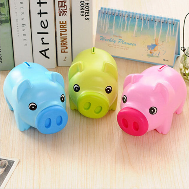1pcs Novelty Portable Cute Plastic Piggy Bank Toy Coin Box Children Toys Kids Gifts