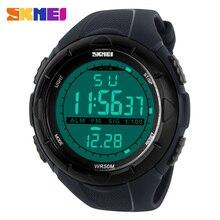 SKMEI 1025 LED Digital Men Military 5Bar Sports Watches Climbing Swim Fashion Outdoor Waterproof Men's Wristwatches reloj hombre все цены