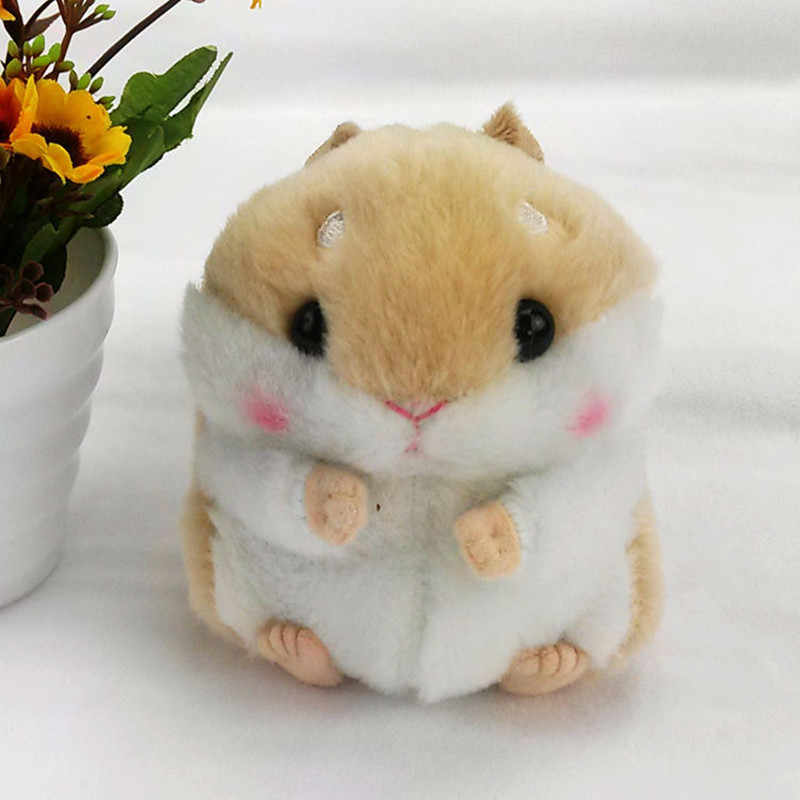 Mulheres de Mini Hamster Pele Pompom Fofo Chaveiro Para Carro Chaveiro Chaveiros Trinkets Chaveiro Coelho Faux Monstro Pom Pom presente