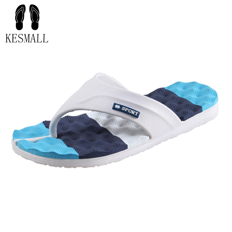 KESMALL Men Slippers Summer Beach Men Shoes Fashion Men Flip Flops Sandals Water Upstream Shoes Male Slides WS44 yierfa fashion cork slipper sandals 2017 new summer women patchwork beach slides double buckle flip flops shoe white purple red