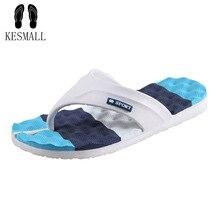 KESMALL Men Slippers Summer Beach Men Shoes Fashion Men Flip Flops Sandals Water Upstream Shoes font