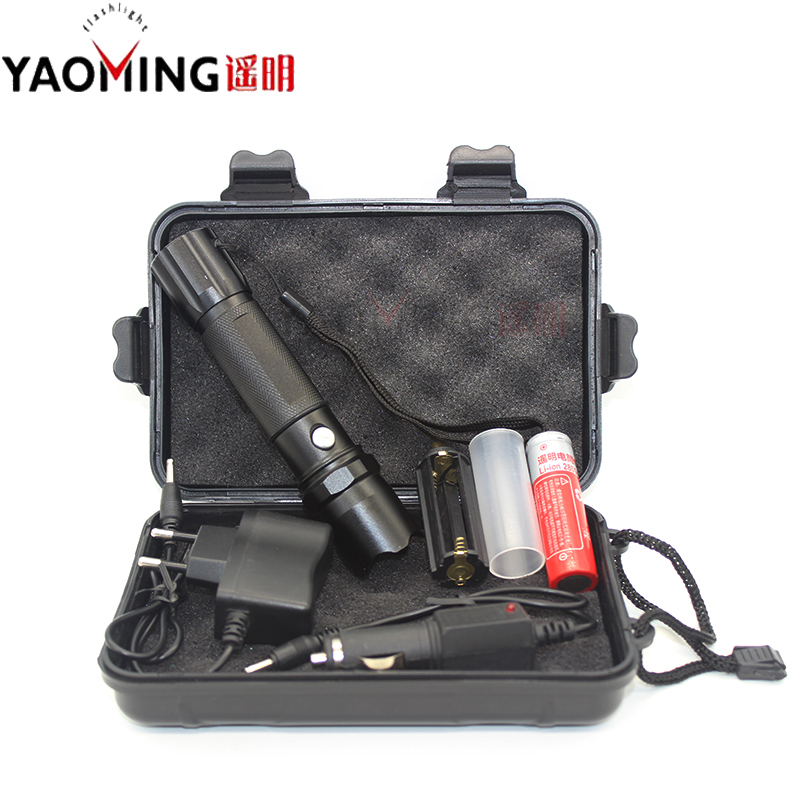 High Power Tactical LED Flashlight CREE Q5 2000LM Led Lamp Lantern Lorch Light Rechargeable Police Linternas 18650 + charger