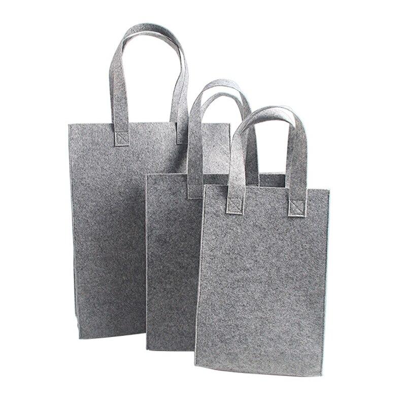 c86b1cf26 Venta al por mayor 500 unids/lote gran venta bolsas de compras de tela de  fieltro reciclada con mango personalizado logo de impresión reutilizable  bolsa de ...