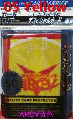 KMC 50 PCS YuGiOh ARC-V mangas de la tarjeta Juegos de mesa protector - Figuritas de juguete - foto 3