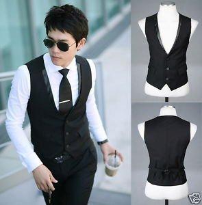 fashion men's waistcoat suit vest Mens Slim Fit Skinny Suit Dress Vest Black jacket suit accessories Wedding groom Vests,VT01