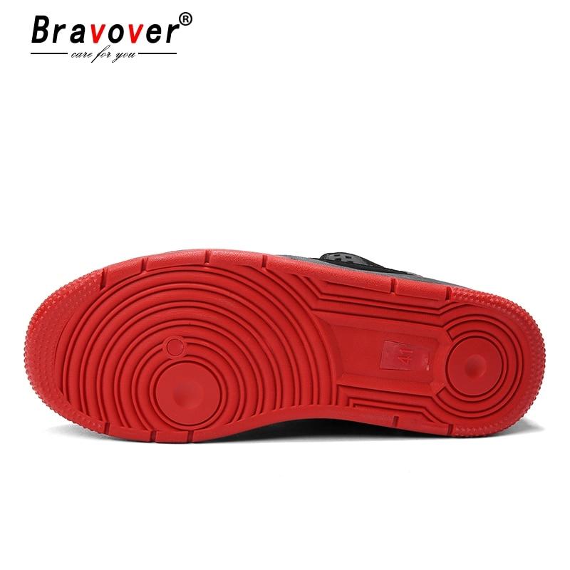 cinza Quente silp Homens Inverno Nova Moda Caminhada Tênis Sapatos Para Liso Não Alta Preto Venda Casuais Mocassin Qualidade vermelho Bravover Couro De aRdU5RW
