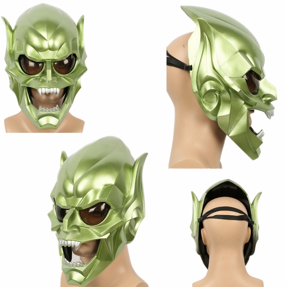 Spider-Man Green Goblin Mask Full Face COSplay Devil Monster Prop Christmas Gift XCOSER ear protective full face mask airsoft paintball mask for halloween protective mask cs wargame field game cosplay movie prop