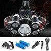 Headlight 40000 Lumen Headlamp 5CREE XML T6 Q5 LED Head Lamp Flashlight Torch Lanterna Head Light