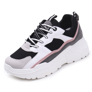 Image 3 - Women Shoes 2019 New Chunky Sneakers For Women Vulcanize Shoes Casual Fashion Dad Shoes Platform Sneakers Basket Femme Krasovki