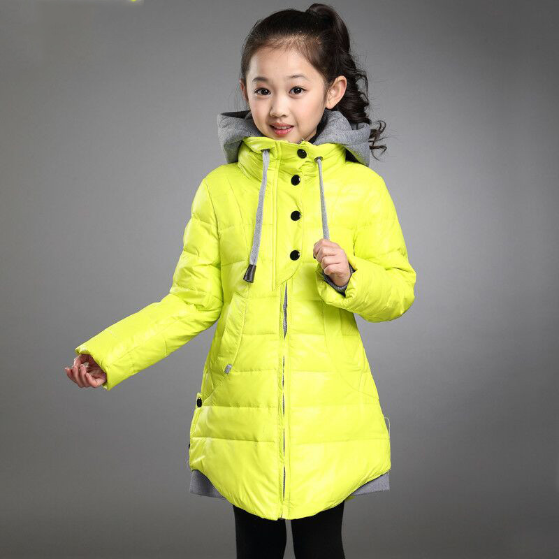 Fashion Children Girls Winter Jacket Parkas Kids Warm Thick Hooded Down Cotton Coats Outwear Baby Cotton Padded Overcoat T96 men warm coats winter snow thick hooded slim fit down parka brand design casual cotton fashion padded outwear sl e437
