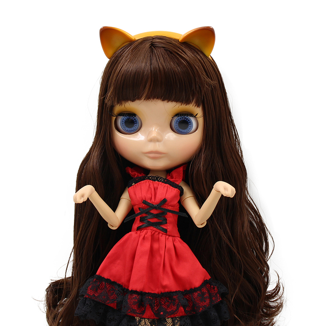 TBL Neo Blythe Dolls Brown Hair Jointed Body