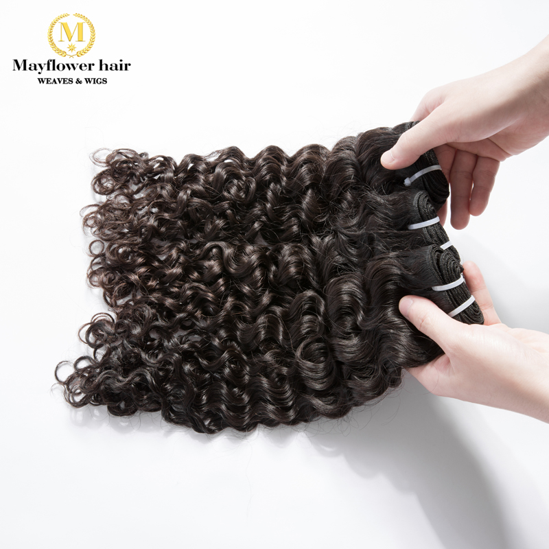 Mayflower 10 Bundles 100% Unprocessed Virgin Malaysian Hair Italian Curl Natural Color Can Be Dye  12-26