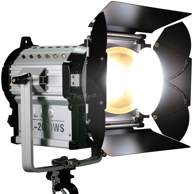 Wireless Remote Control 12000 Lux Dimmable Bi-color 200W LED Fresnel Spotlight 3200-5500K HMI Par Light video Equipment