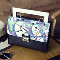 2016 Summer New Handbag Owl Catch Small Square Package Printing Fashion Bags Shoulder Bag Handbag