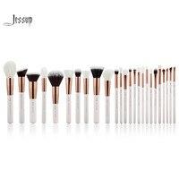 Jessup Pearl White/Rose Gold Professional Makeup Brushes brushes Make up Brush Tools kit Foundation set Powder Blushes