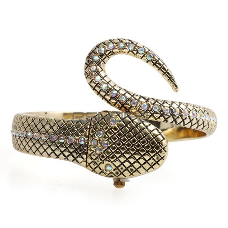2018 G&D Luxury Women Watches Snake Bracelet Watch Serpentine Clock Ladies Watch Quartz Wristwatch Relogios Feminino Gift Box