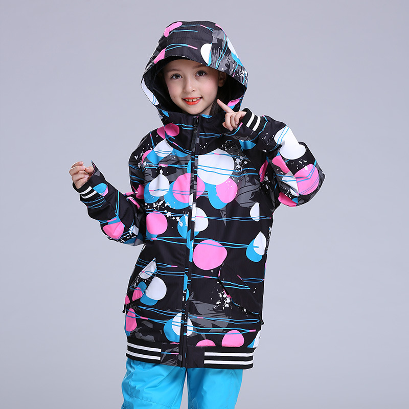 New GSOU SNOW ski jacket children waterproof boys winter jackets girls snowboard suits skiwear kids ski clothes 2017 gsou ski jacket women snowboard winter snow jacket skiwear ski jas heren clothes esqui warm waterproof