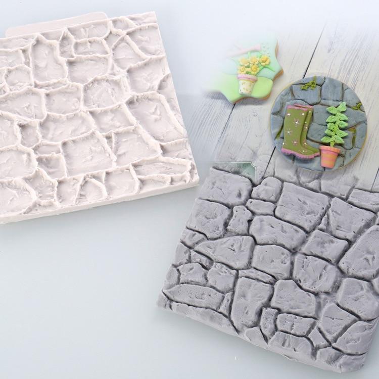 10x10cm Retro Pastoral Pebble Wall Silicone Mold Designer DIY Brick Concrete Molds Moule Silicone 3d Wall Panel Stampi Per Gesso