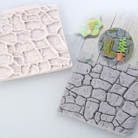 10x10cm rétro pastorale galet mur Silicone Moule Designer bricolage brique béton moules Moule Silicone 3d mur panneau Stampi par Gesso