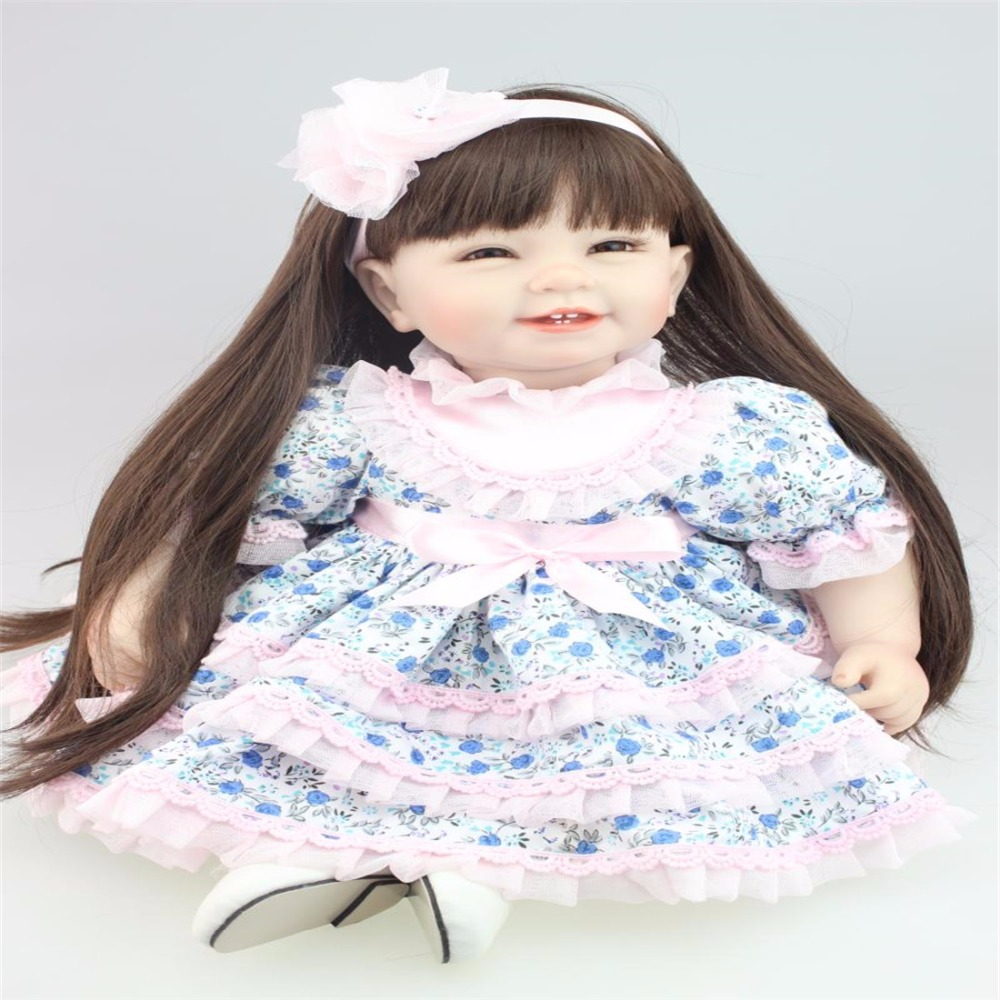 22 inch 55cm  baby reborn Silicone dolls, lifelike doll reborn babies toys for girl princess gift brinquedos  Children's toys! cree xm l t6 bicycle light 6000lumens bike light 7modes torch zoomable led flashlight 18650 battery charger bicycle clip