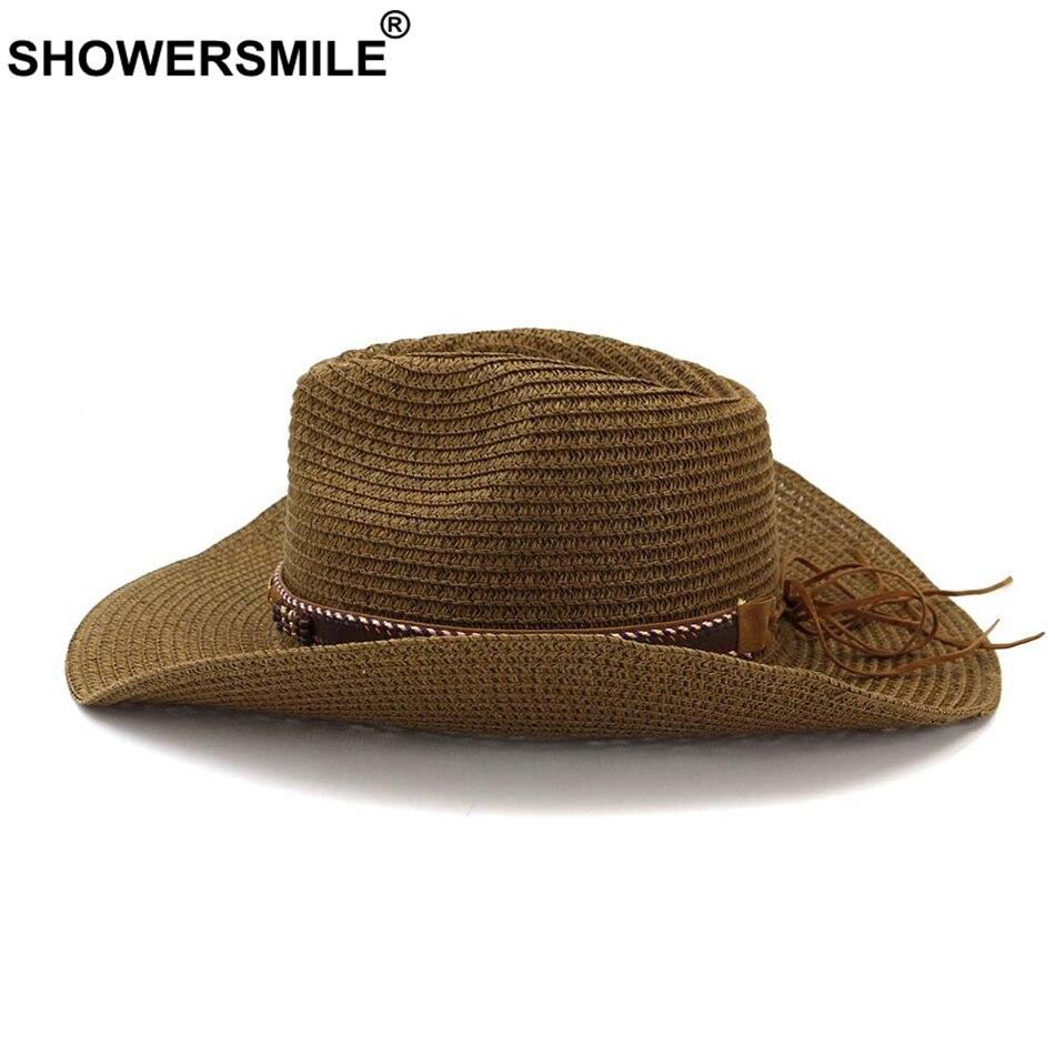 Шляпка от солнца showersmile для мужчин и женщин Соломенная
