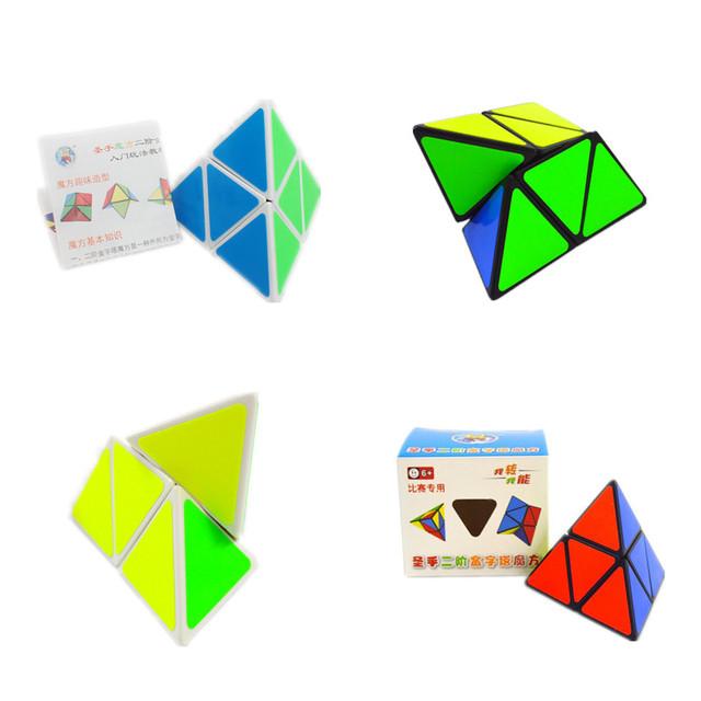Shengshou 2x2x2 triángulo pyraminx cubo mágico puzzle giro velocidad pirámide cubo neo cubo cuatro lados niños juguetes educativos