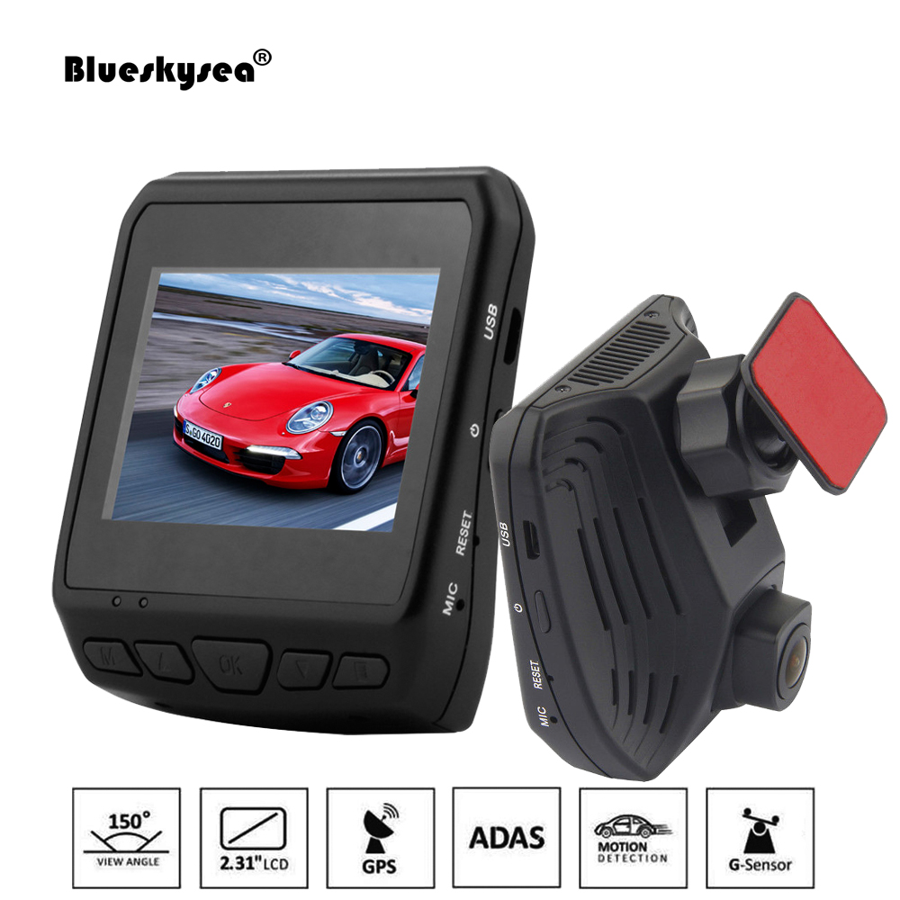 Blueskysea Car DVR DAB211 Ambarella A12 2560x1440P 2.31 LCD Car DVRs Recorder  Built-in GPS G-sensor ADAS Car Dash Camera jean paul gaultier femme