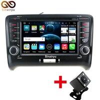 Sinairyu Octa Rdzeń Android 6.0 Radioodtwarzacz Samochodowy dla Audi TT 2006-2012 Odtwarzacz DVD System Nawigacji GPS BT RDS 4G WIFI Dotykowy ekran