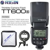 Godox TT600S GN60 HSS 1/8000s Camera Flash Speedlite 2.4G Wireless X System+Godox S Type Bracket+Softbox Kit For Sony