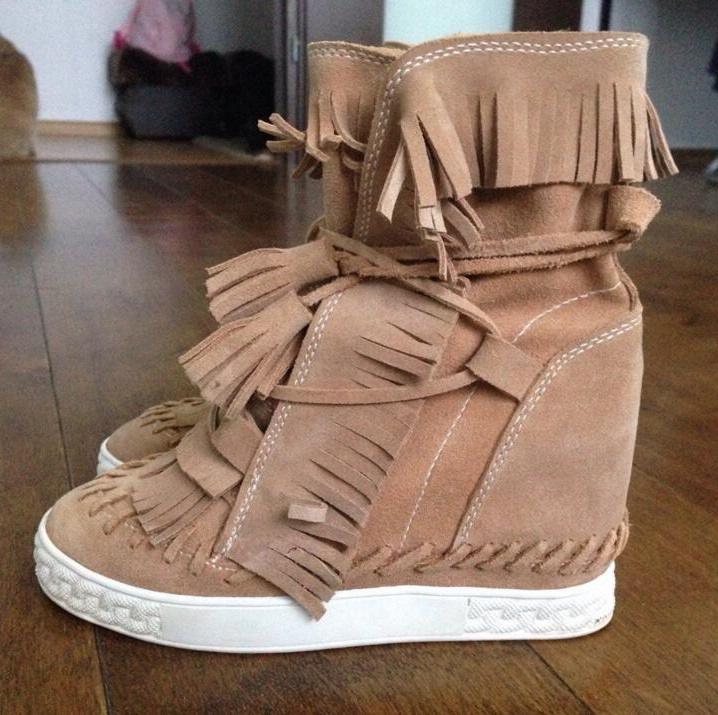 High Platform Fringed Height Increasing Womens Boots Ankle Lace-up Tassel Casual Outdoor Shoes Rome Platform Boots Women High Platform Fringed Height Increasing Womens Boots Ankle Lace-up Tassel Casual Outdoor Shoes Rome Platform Boots Women