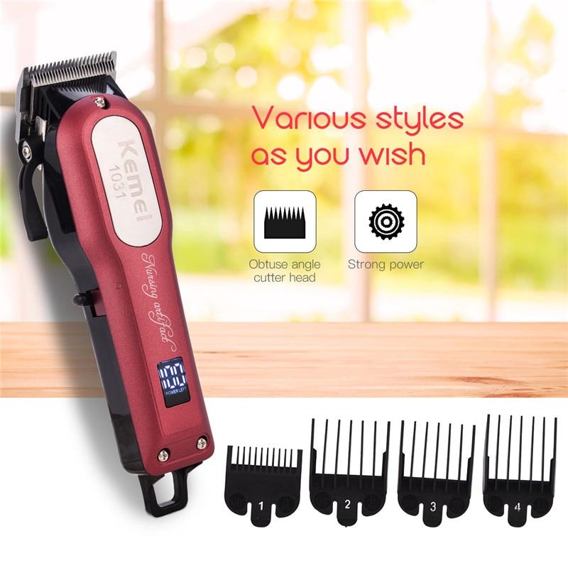 Professional Electric Hair Clipper Rechargable Hair Cutting Machine Kit Sharp Blade Hair Trimmer For Men Baby Hair Salon X37