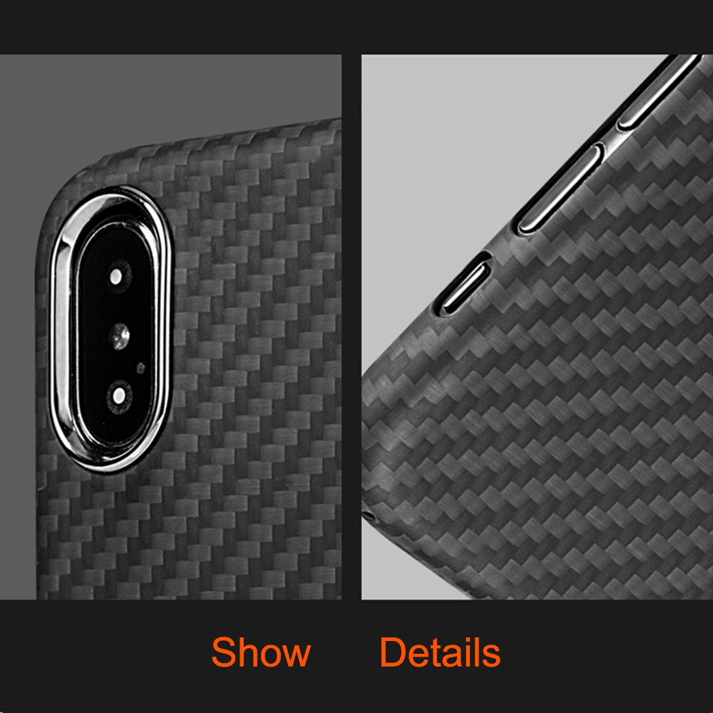 Image 4 - 0.7mm Ultra Thin Luxury Carbon Fiber Pattern For iPhone XR XS XS MAX Case Cover Full Protective Aramid Fiber Case For iPhone X-in Fitted Cases from Cellphones & Telecommunications