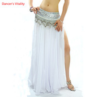 2018 12 Colors Sexy High Quality Belly Dance Clothes Chiffon Professional Belly Dancing Skirt For Women