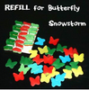 Refill For Butterfly Snowstorm 12pcs Pack Card Magic Fire Magic Magic Trick Classic Toys Stage Gimmick