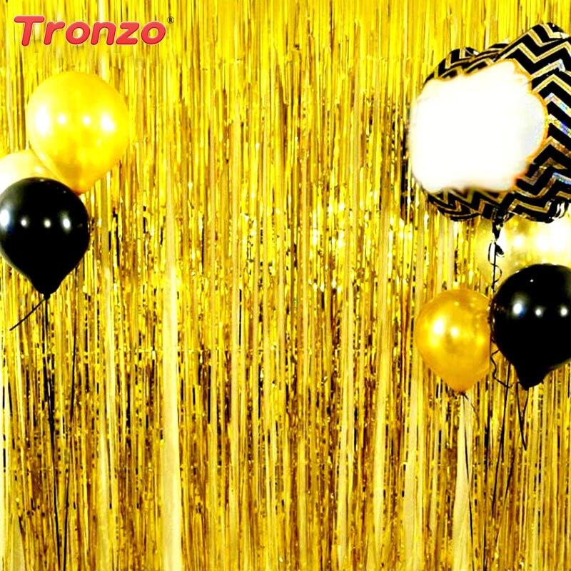 Tronzo 1 * 2 M Nieuwe Tinsel Folie Fringe Gordijn Voor Deur Window - Feestversiering en feestartikelen - Foto 1
