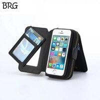 Multi Functie Zip Portemonnee Mobiele Telefoon tassen Voor iPhone 5 6 7 6 plus Vouw 3 in 1 Magnetische Hard Case met kaarthouder Foto Frame