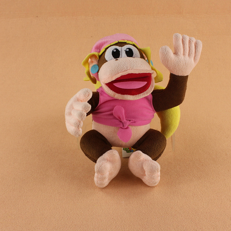 27cm kawaii Super Mario Diddy Kong Dixie Kong Plush Soft Stuffed Animals Doll Toys For Kids