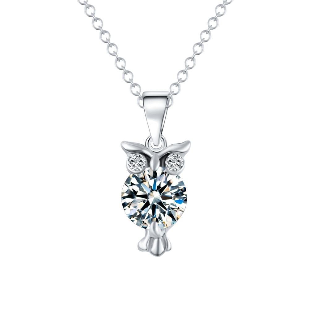 Fashion Owl Shaped Women's Zircon Pendant Necklace Jewelry Necklaces Women Jewelry