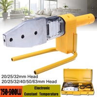 900W 220V Electric Pipe Welding Machine Heating For Plastic PPR PE PP PPC Tube with 20 63mm or 20 32mm Heads