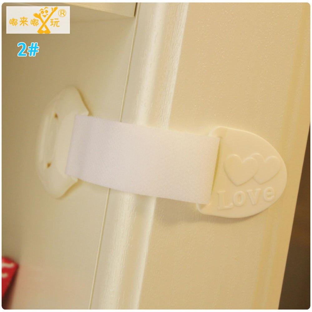 Замок холодильника блокирующий замок для шкафа Детские Детская безопасность замок ABS ящики уход за младенцем дома Творческий холодильник для детей - Цвет: white