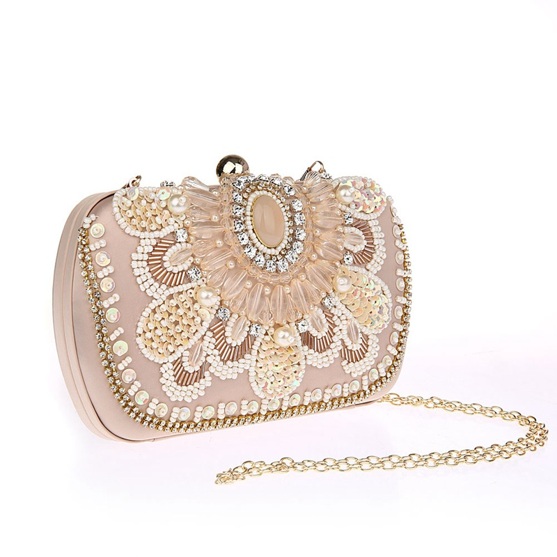 Japan Korean Style Women Bling Rhinestone Cosmetic Bag Socialite Beads Sequins Makeup Bag Exquisite Noble Girl Wedding Gift Bags